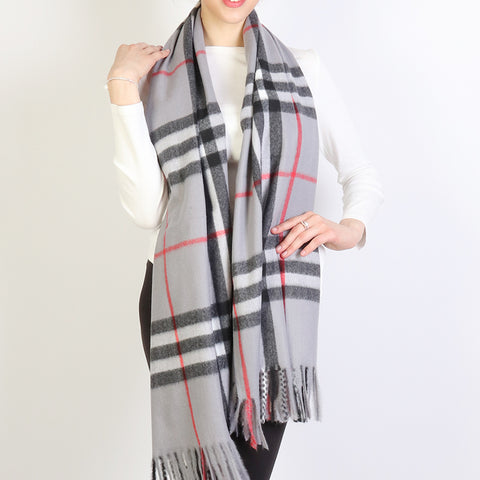 Ella Scarf : Grey Plaid