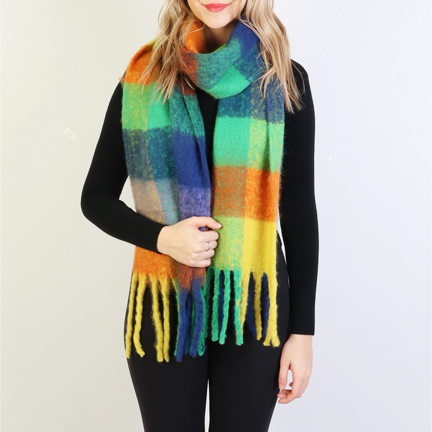 Kristin Winter Scarf : Color Block