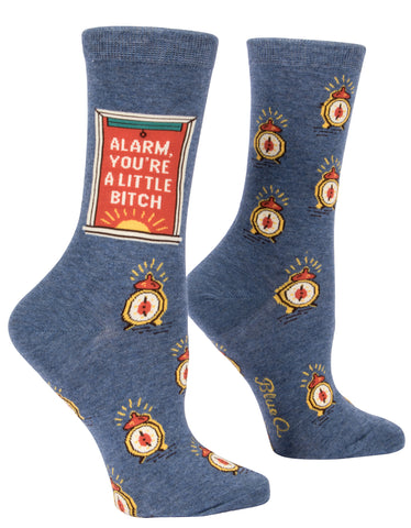 Women's  Socks : Alarm Clock
