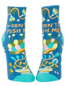 Women's Socks : Don't Push Me