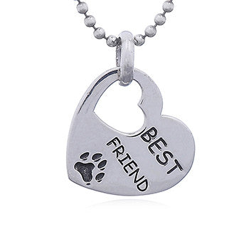 My Best Friend is a Dog Pendant, Sterling Silver