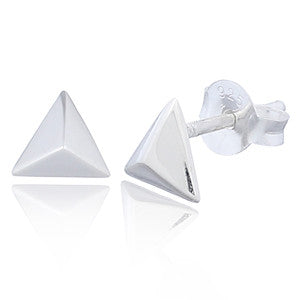 Triangle Stud Earrings, Sterling Silver