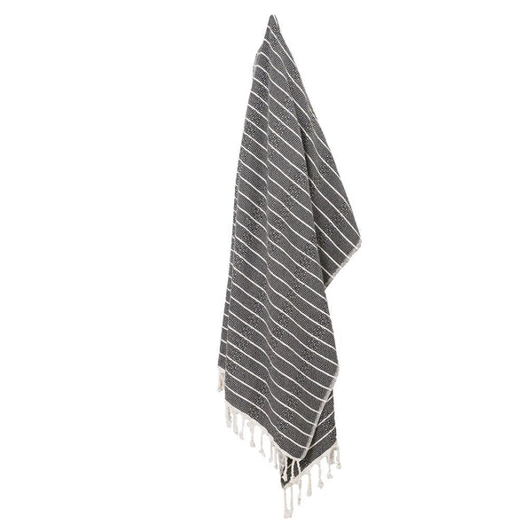 Turkish Towel : Bamboo, Striped Monochrome