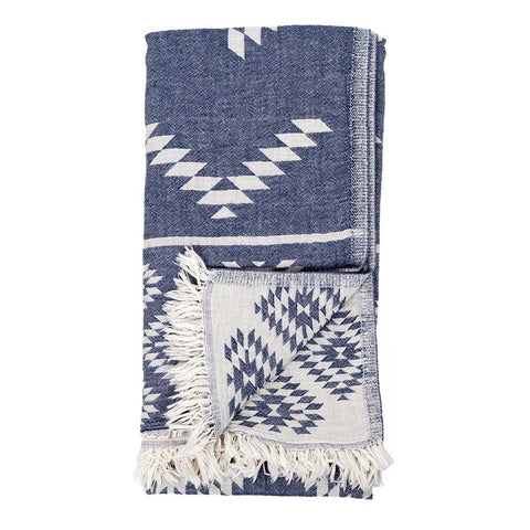 Turkish Towel : Geometric Cowboy Denim