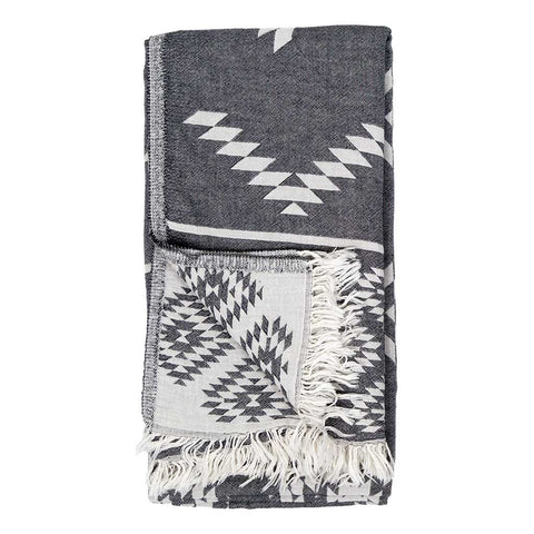 Turkish Towel : Geometric Black