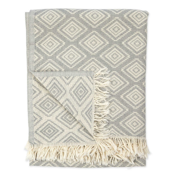 Turkish Towel :  Pyramid Light Grey