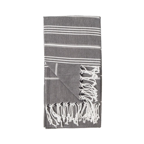 Turkish Towel : Sultan Black