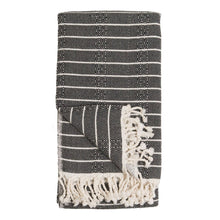 Load image into Gallery viewer, Turkish Towel : Bamboo, Striped Monochrome