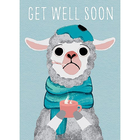 Card: Get Well Soon Llama