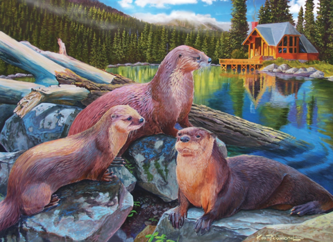 Jigsaw Puzzle : River Otters