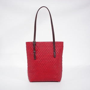 Pansy Tote : Red. Vegan Leather.