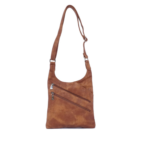 Bianca Crossbody Purse : Mocha. Vegan Leather.