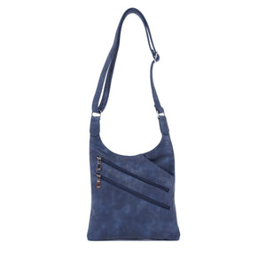 Bianca Crossbody Purse : Navy. Vegan Leather.