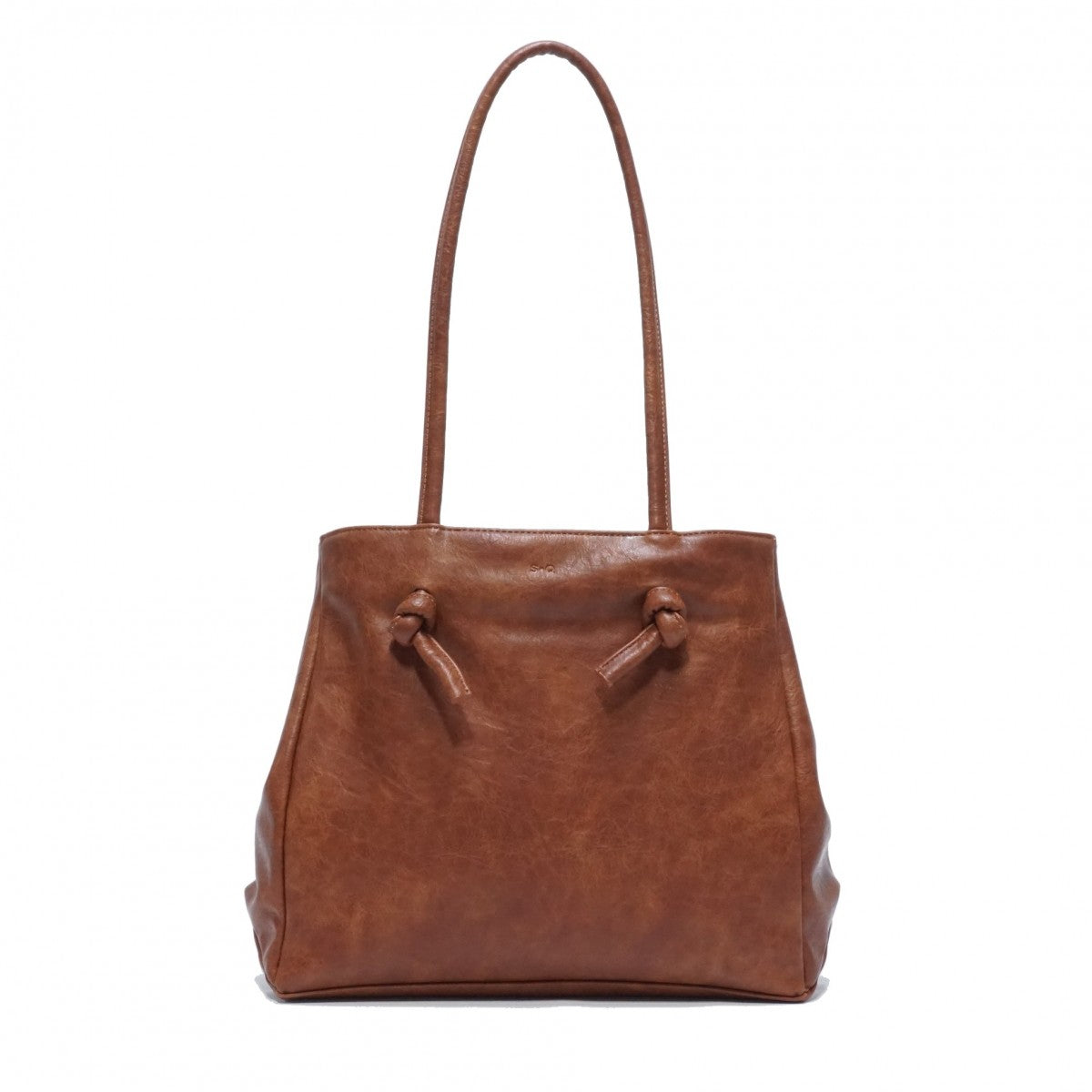 Ellie Tote : Camel. Vegan Leather.