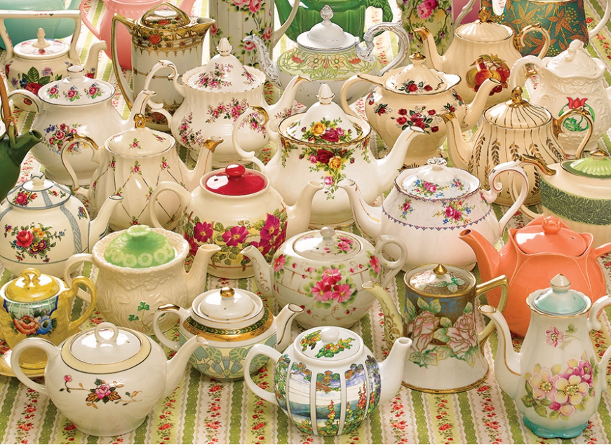 Jigsaw Puzzle : Teapots Too