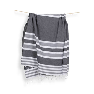 Turkish Towel : Ariel Black