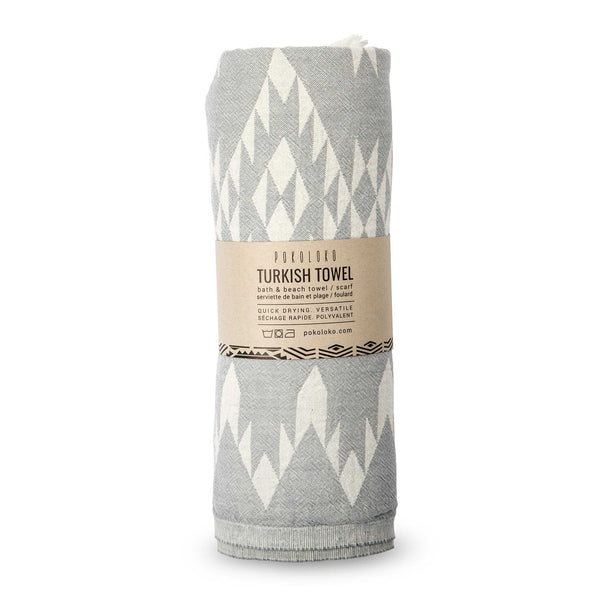 Turkish Towel :  Atlas Light Grey