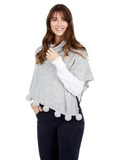 Pardy Poncho in Heather