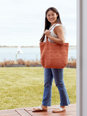 Ainslie Tote in Sunkissed Orange