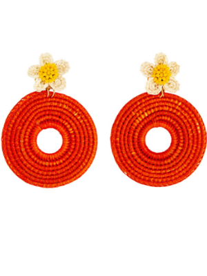 Clementine Earrings in Orange