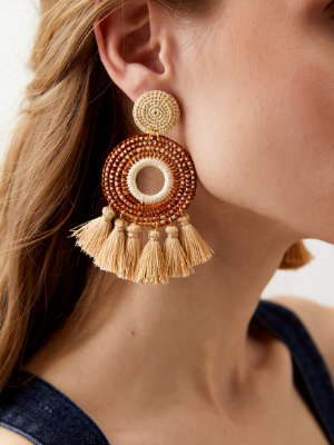 Serena Earrings in Cinnamon