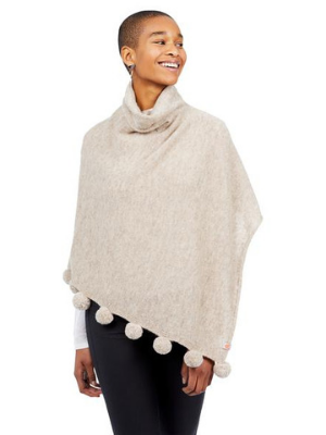 Pardy Poncho in Camel