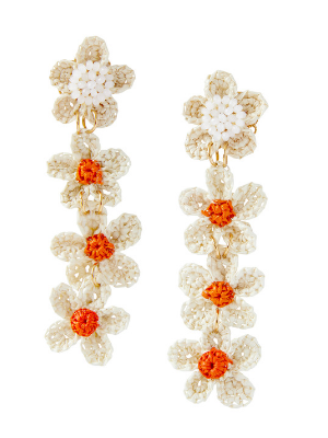 Jane Earrings in Orange