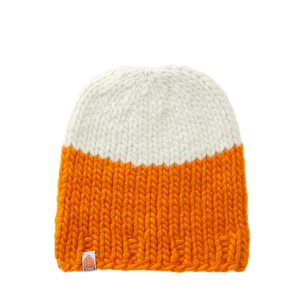 Carlisle Beanie in Orange + White Lie
