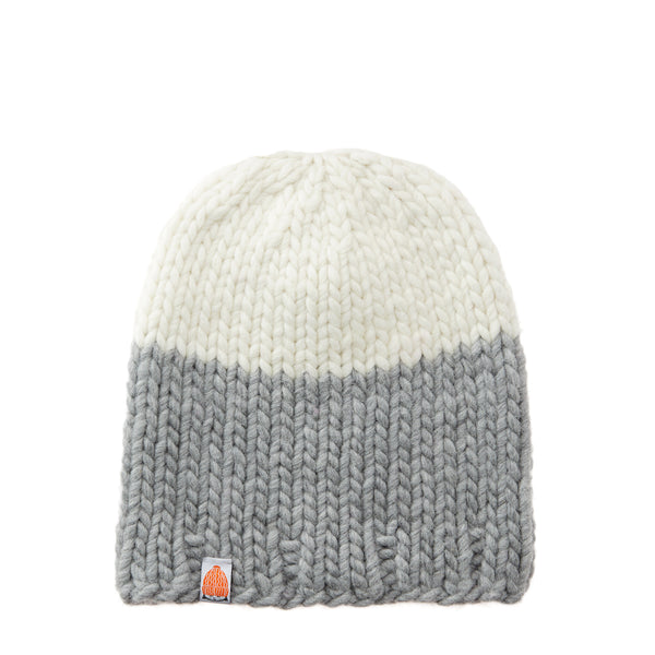 Carlisle Beanie in Heather + White Lie