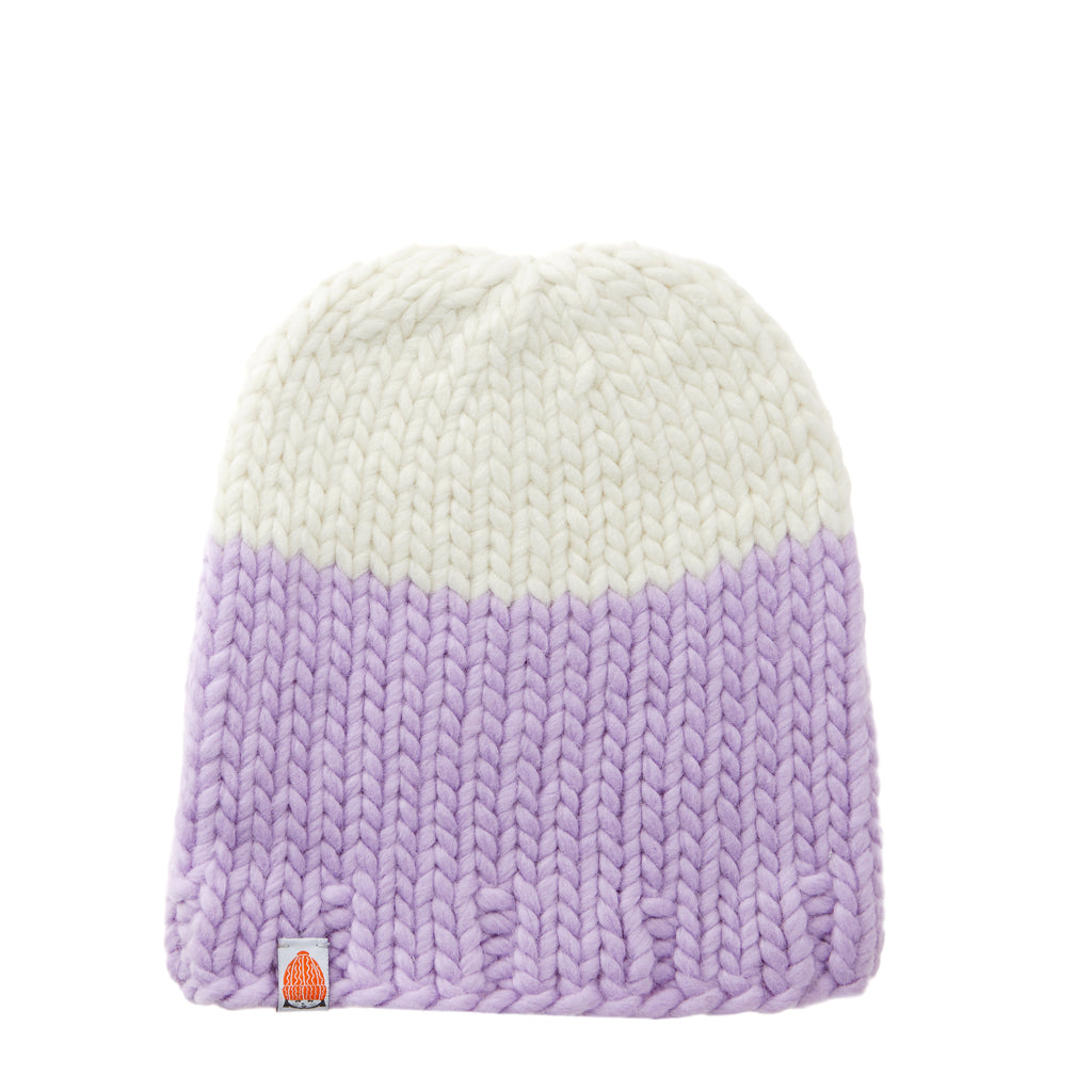 Carlisle Beanie in Lavender + White Lie