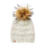 Motley Beanie in White Lie