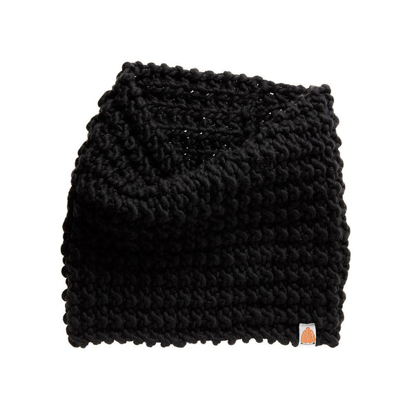 Shit That I Knit Shaw Cowl in Black