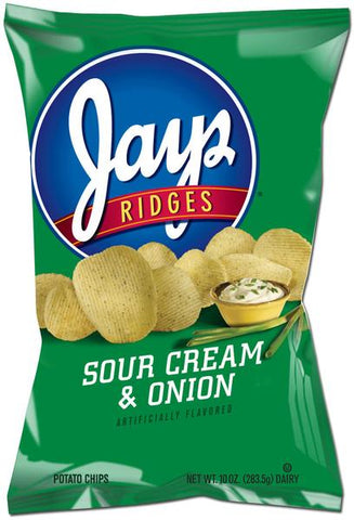 Jays Cheddar & Sour Cream Ridge Chips & Jays Sour Cream Onion Ridges (Mixed Case)