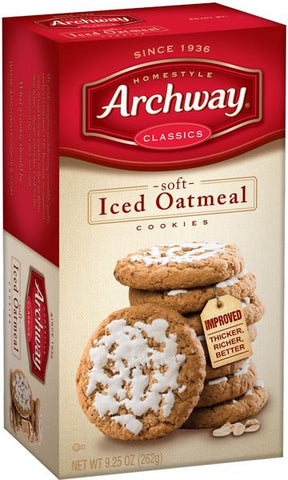 Archway Crispy Iced Oatmeal Cookies (soft)