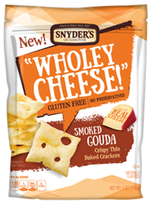 Snyder's of Hanover Wholey Cheese Smoked Gouda Baked Crackers
