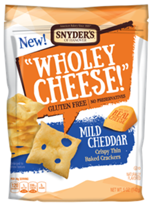 Snyder's of Hanover Wholey Cheese - Mild Cheddar Baked Crackers & Smoked Gouda (Mixed Case)