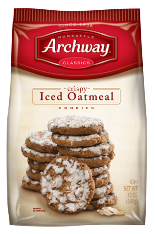 Archway Crispy Iced Oatmeal Cookies