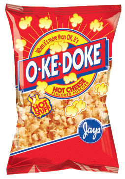 O-Ke-Doke Hot Stuff Cheese Popcorn 2 oz.