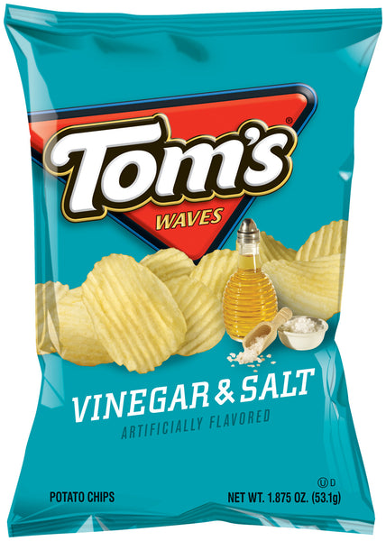 Tom's Waves Vinegar & Salt Potato Chips
