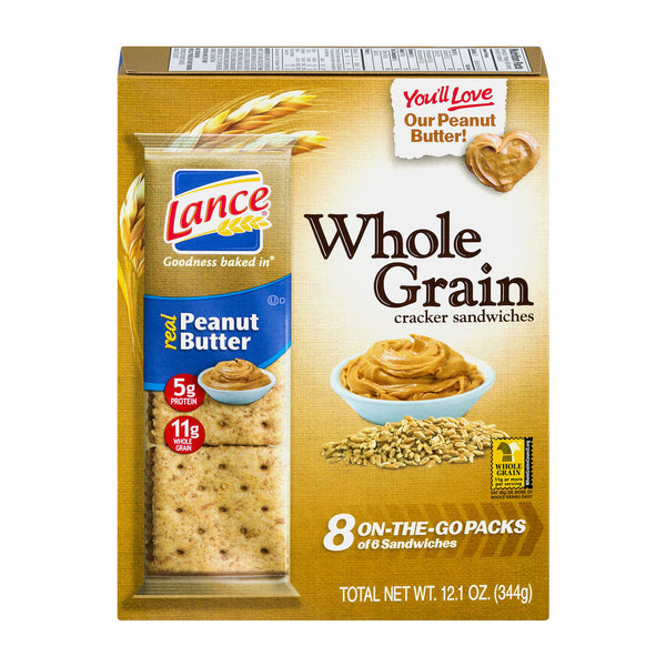 Lance Whole Grain Peanut Butter