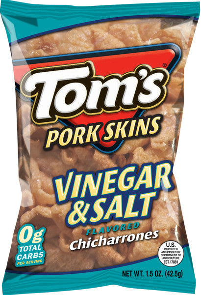 Tom's Vinegar & Salt Pork Skins