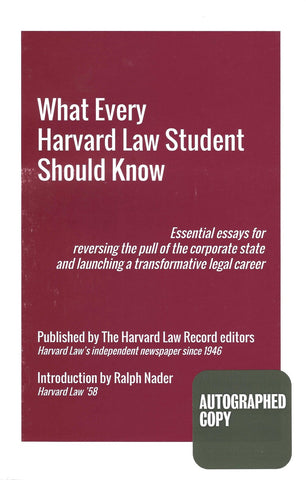 What Every Harvard Law Student Should Know