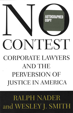 No Contest autographed by Ralph Nader