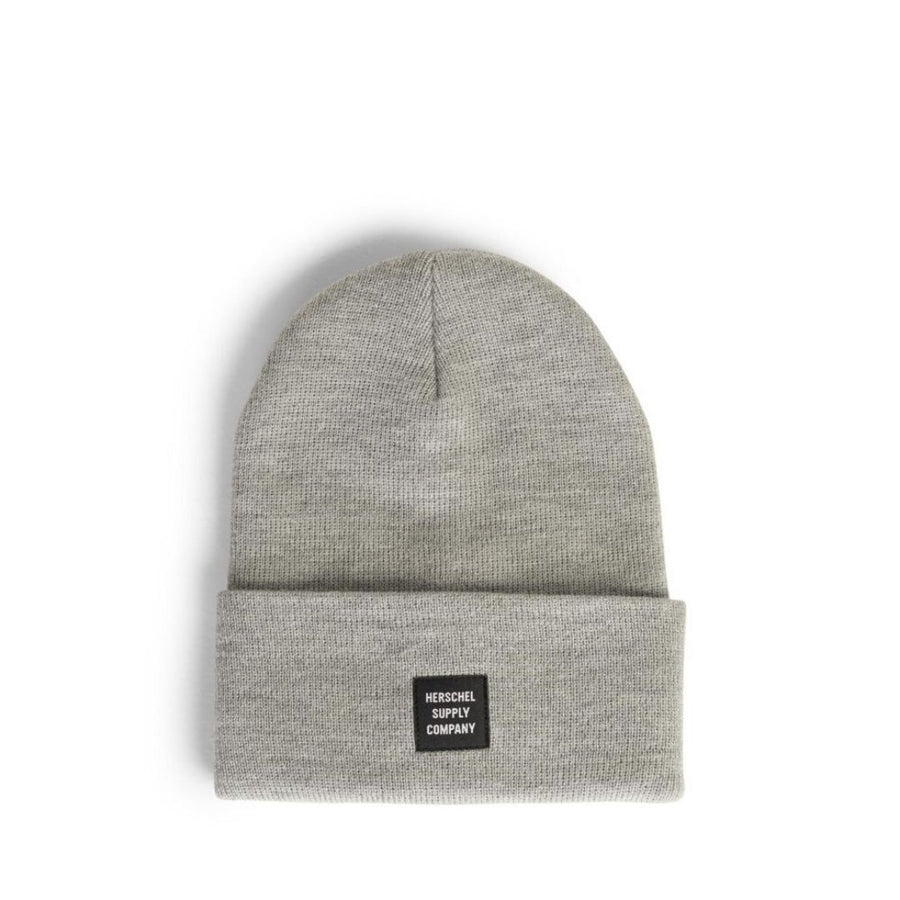1001-0759-0S Herschel - Abbott Heather Light Grey Beanie Hat Hats Herschel