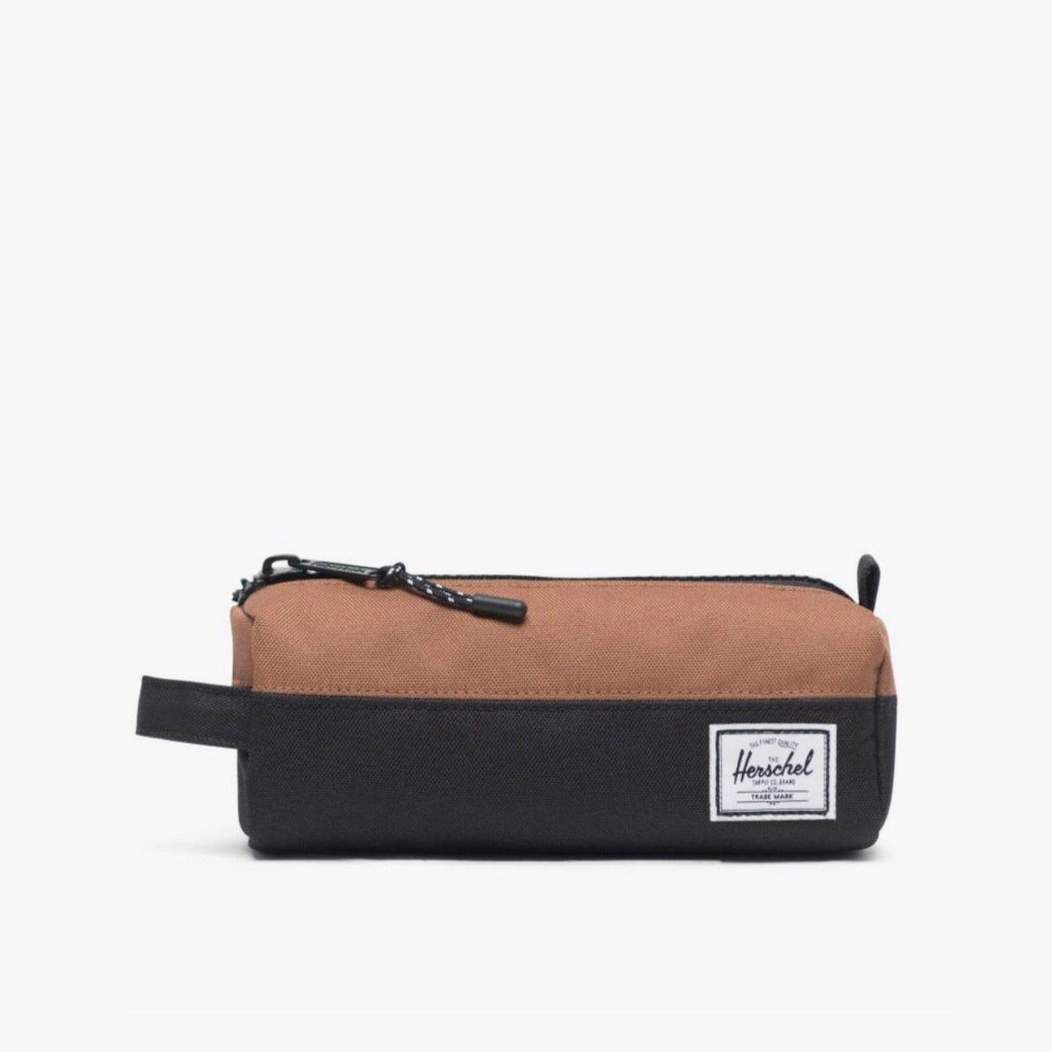 10071-02696-OS -Herschel Settlement Case - Black/Saddle Brown Pencil Case Herschel