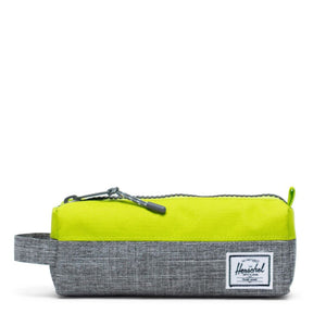 10071-03024-OS -Herschel Settlement Case - Raven Crosshatch/Lime Green Pencil Case Herschel