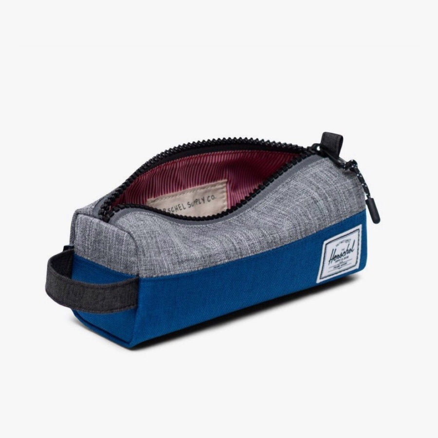 10071-03263-OS -Herschel Settlement Case - Monaco Blue/Black/Raven Crosshatch Pencil Case Herschel