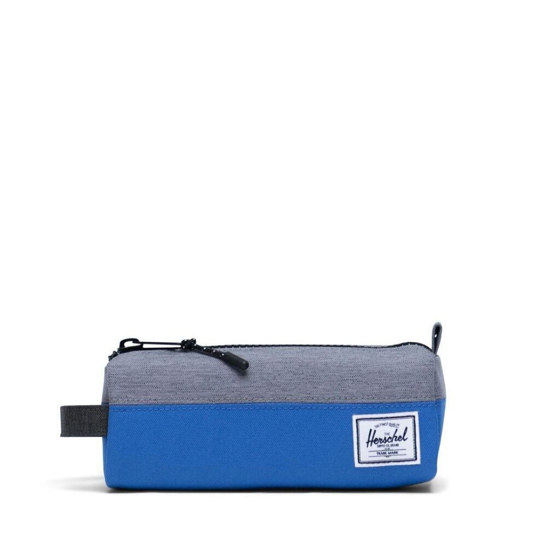 10071-03877-OS -Herschel Settlement Case - Amparo Blue/Mid Grey Crosshatch/Black Crosshatch Pencil Case Herschel