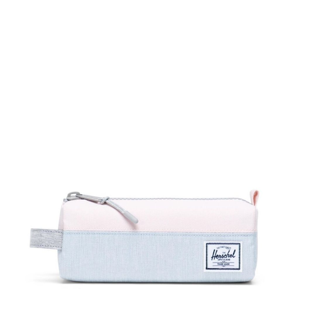 10071-03878-OS -Herschel Settlement Case - Ballad Blue Pastel Crosshatch/Rosewater Pastel/Light Grey Crosshatch Pencil Case Herschel
