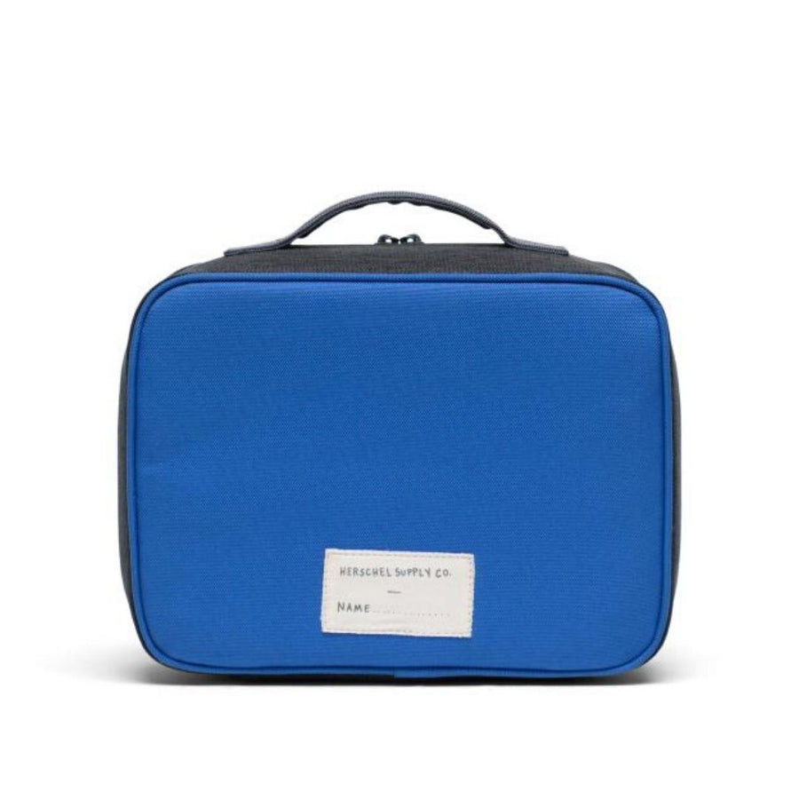 10227-02699-OS- Herschel Pop Quiz Lunch Box - Amparo Blue/Mid Grey Crosshatch/Black Crosshatch Lunch Box Herschel